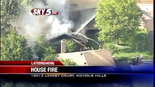 Sky5 video of house fire in The Village