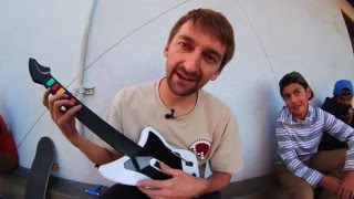 SKATEBOARDING ON A XBOX GUITAR HERO CONTROLLER | SKATE EVERYTHING EP 9