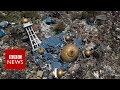 Indonesia tsunami devastation filmed from above - BBC News