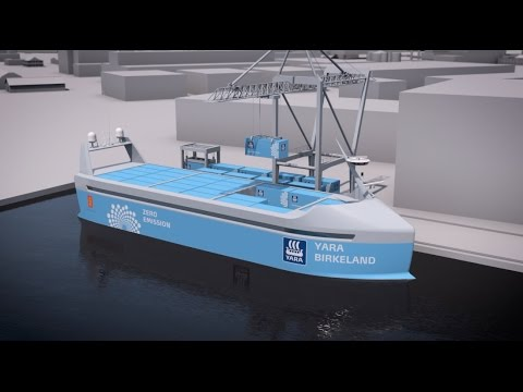 The first electric, autonomous cargo ship will protect lives on the road and at sea