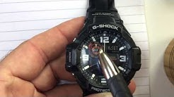 ccf6e89a6 Casio G-Shock ADJUST time hands (HD) Hidden menu digital + analog times  match GShock aviator GA-1000 - Duration: 7:30.