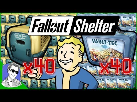 Fallout Shelter Easy Legendaries 40 lunchboxes & 40 Pet Carr