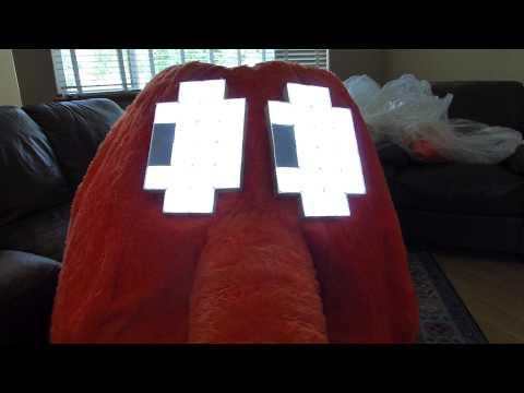 Q*Bert Costume with LED animated eyes
