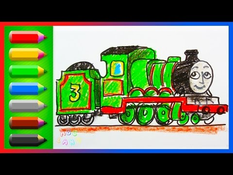 Drawing and Coloring Henry the Green Engine ♦ Thomas and Friends ♦ Preschool Colors Learning Video