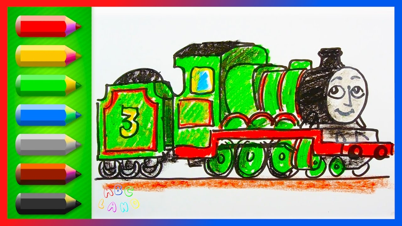 Drawing and Coloring Henry the Green Engine ♢ Thomas and Friends ...