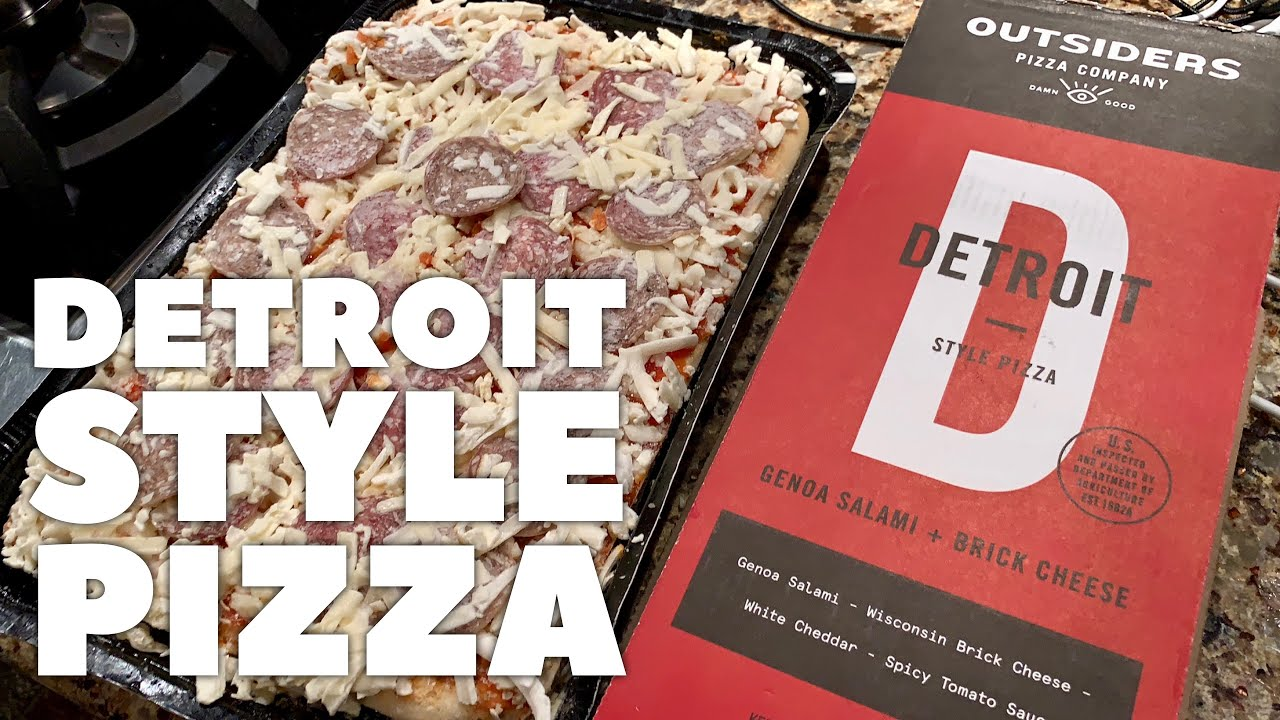 Detroit Style Pizza With Salami By Outsiders Pizza Company Review
