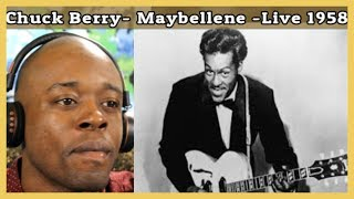 My First Time Watching Chuck Berry- Maybellene  Live 1958   Reaction