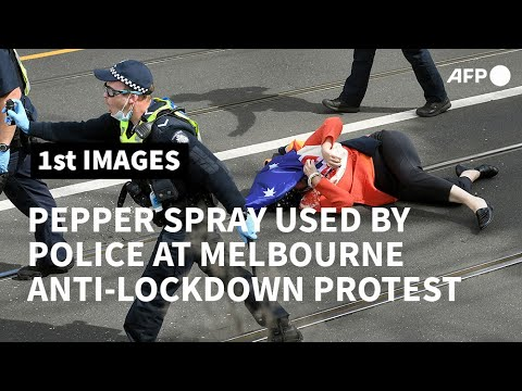 Australia: Pepper spray used on anti-lockdown protesters in Melbourne | AFP