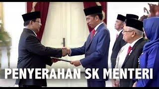 Presiden Jokowi Serahkan SK Menteri Kabinet Indonesia Maju