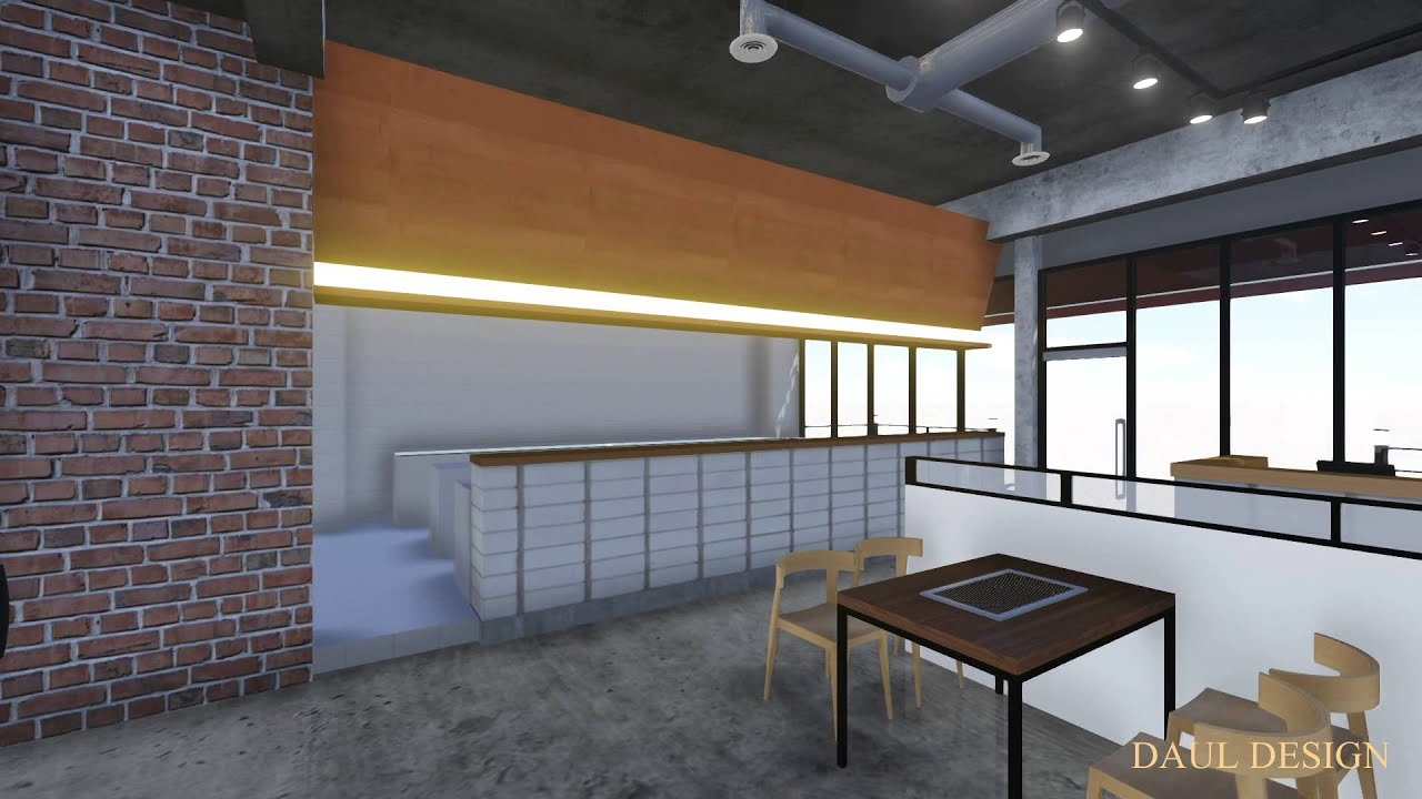 홍대 린 Cafe - 인테리어 디자인 - YouTube