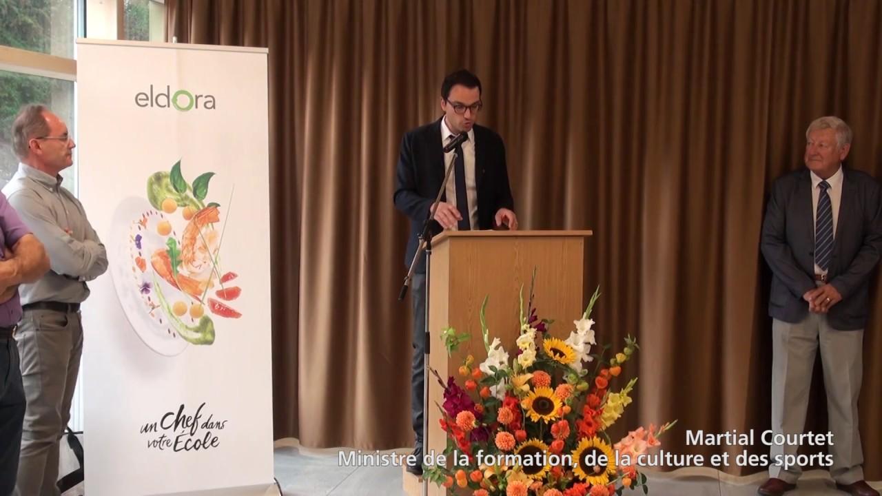 Inauguration du nouveau restaurant scolaire Eldora SA du collège Thurmann «Chez Jules» à Porrentruy.