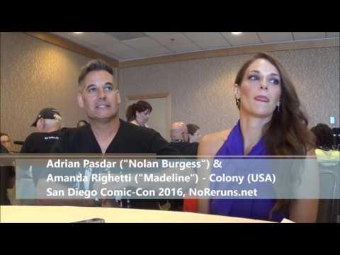 COLONY Q&A with Adrian Pasdar & Amanda Righetti (SDCC 2016)