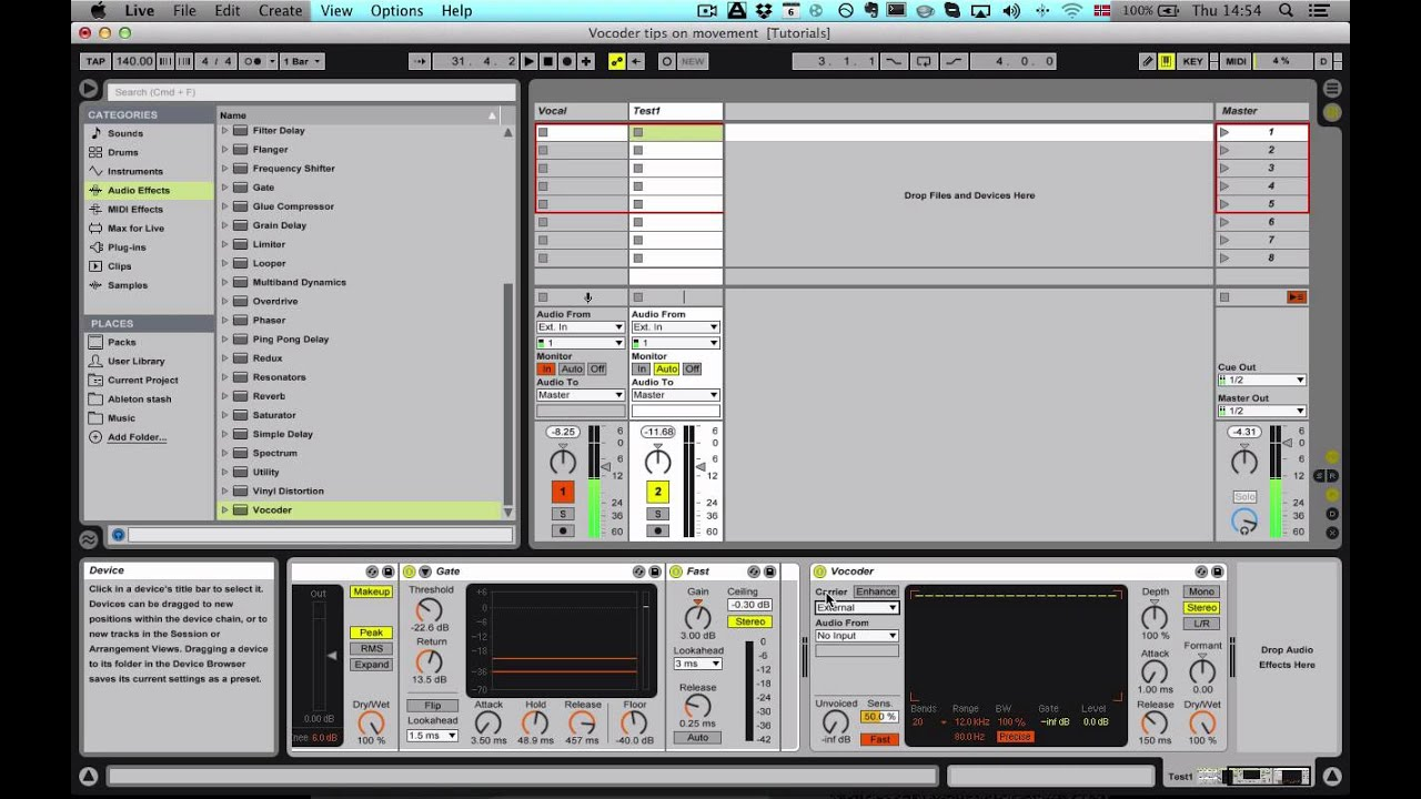 Ableton Live Vocoder (Basic Daft Punk Style Vocoder)