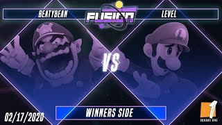 Fusion #11 - BeatyBean (Wario) Vs. Level (Luigi) - Winners Side - Smash Ultimate