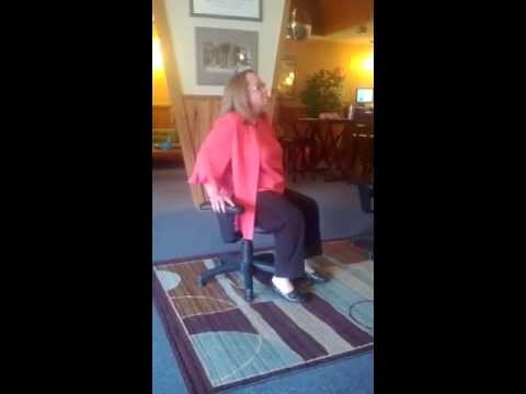 Wobble chair fun at Hutch Chiropractic