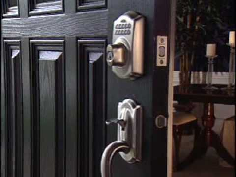 installing your be365 keypad deadbolt youtube. Black Bedroom Furniture Sets. Home Design Ideas