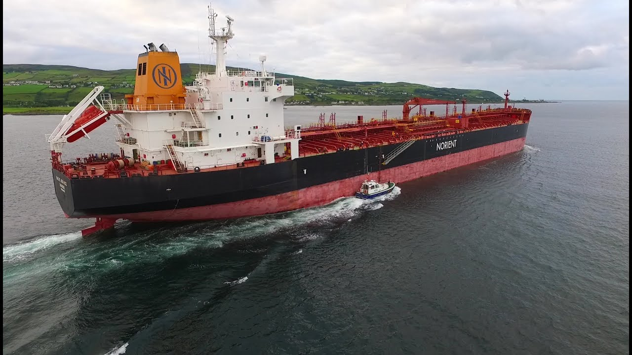 DJI Phantom 3 Advanced - Baltic Advance - Largest Ever Oil Tanker On Lough  Foyle