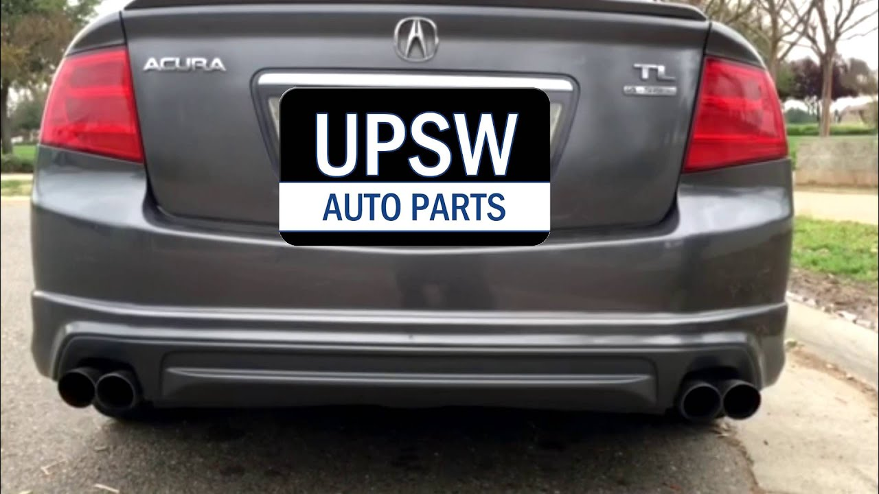 Acura TL Quad Exhaust Tips YouTube - Acura tl exhaust system