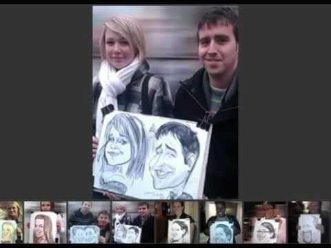 London wedding caricaturist - live examples