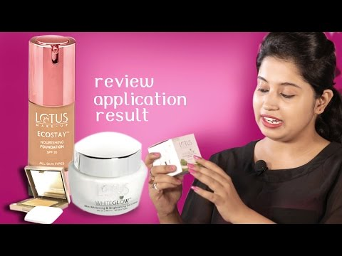 Lotus Whiteglow Gel, Ecostay Foundation  Review