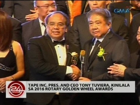 Tape Inc. Pres. and CEO Tony Tuviera, kinilala sa 2016 Rotary Golden Wheel Awards
