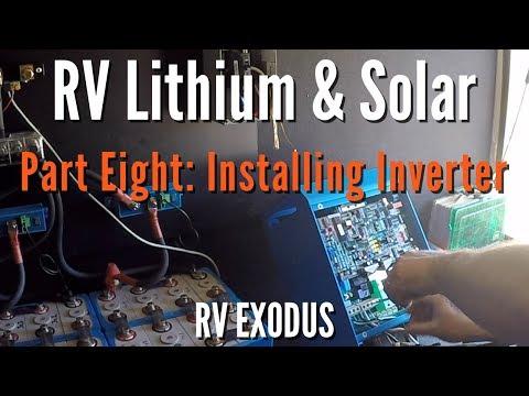RV Fulltime Living | Lithium Battery & Solar: Part Eight - Installing Victron Multiplus Inverter