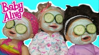 BABY ALIVE Surprise Spa Day AND Dress Up With Baby Alive Dolls!
