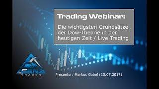 Die wichtigsten Grundsätze der Dow-Theorie in der heutigen Zeit / Live Trading vom 10.07.17