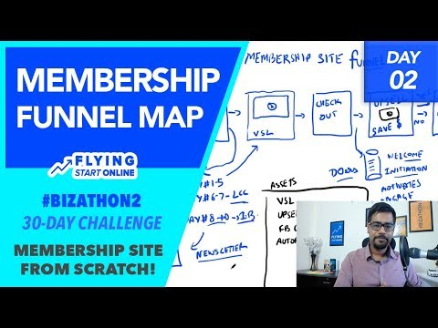 Mapping Out A Membership Site Funnel - (Day 2/30) #Bizathon2