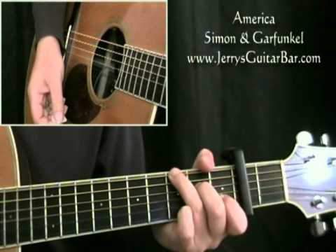 How To Play Simon & Garfunkel America (intro only)