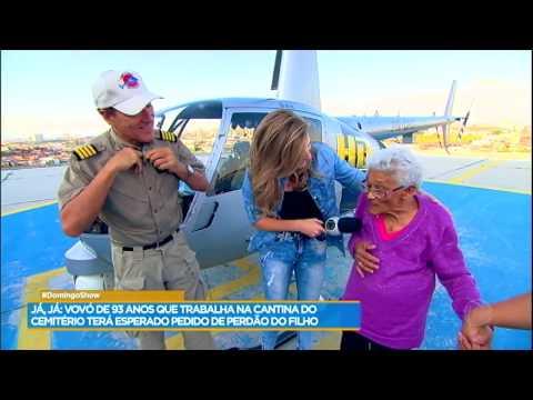 Dona Gercina realiza sonho e anda de helicóptero com o Comandante Hamilton