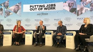 Putting Jobs Out of Work - Yuval Noah Harari Panel Discussion at the WEF Annual Meeting