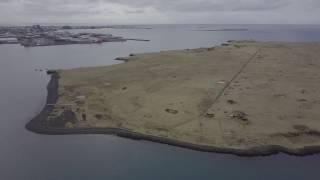 Viðey Island, Near Reykjavík 4k Drone Flyover
