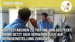 Wattestäbchen zu tief ins Ohr gesteckt: Mann setzt sich versehentlich auf Werkseinstellung zurück