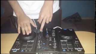 DJ Bullet mixing with Hercules DJ air.
