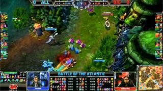 Alliance vs Dignitas Game 1 | EU vs NA Battle of the Atlantic 2013 | ALL vs DIG G1 Bo3
