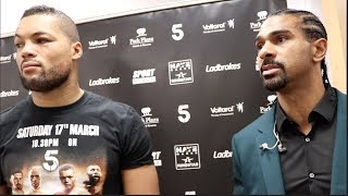 DAVID HAYE - 'DERECK CHISORA WILL NOT BE FIGHTING TAKAM ON MY UNDERCARD THE ONLY FIGHT IS JOE JOYCE'