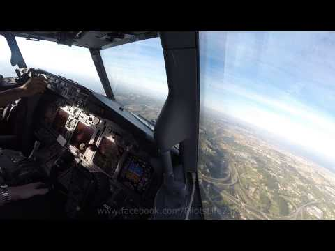 Boeing 737  -  Windy Visual Approach In Marseille Provence