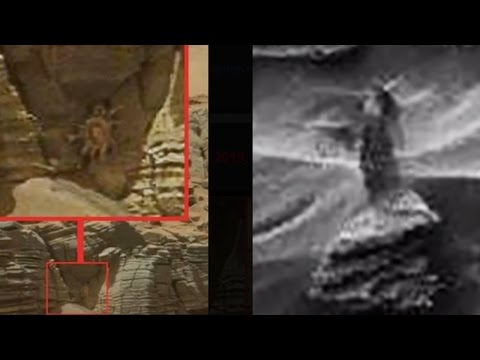 GOTCHA NASA!!! UFO Sightings ALIEN WOMAN & CREEPY CRAWLERS ON MARS!!! 2015