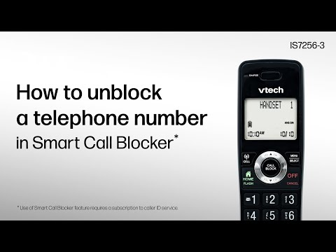 Unblock a telephone number in Smart Call Blocker – VTech IS7256-3