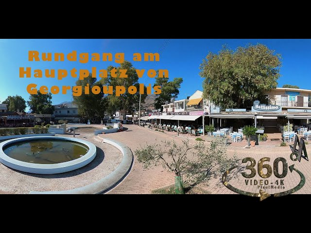 Rundgang am Hauptplatz von Georgioupolis  (Kreta-Crete) 2021 VR360 4K