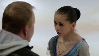 Камила Валиева расстроилась после неудачного проката на тренировке