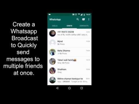How to Send  broadcast messages on Whatsapp