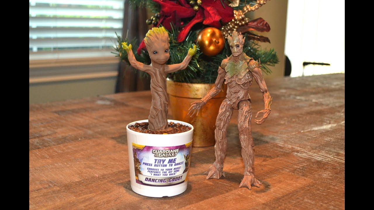 Guardians of the Galaxy DANCING BABY GROOT FIGURE TOY review Hot
