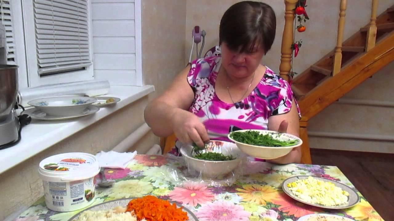"Чудо-салат, чудо-рецепт! ""Грибная поляна"". - YouTube"
