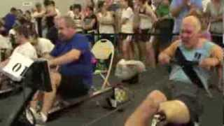 Erg Race Above the Knee Amputee: Before, Start, Middle, End