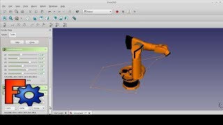 Robot Work Bench:  FreeCAD Kuka Robot Simulation