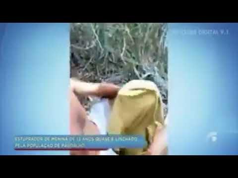Estuprador é pego em flagrante no mato com criança e homem filma tudo