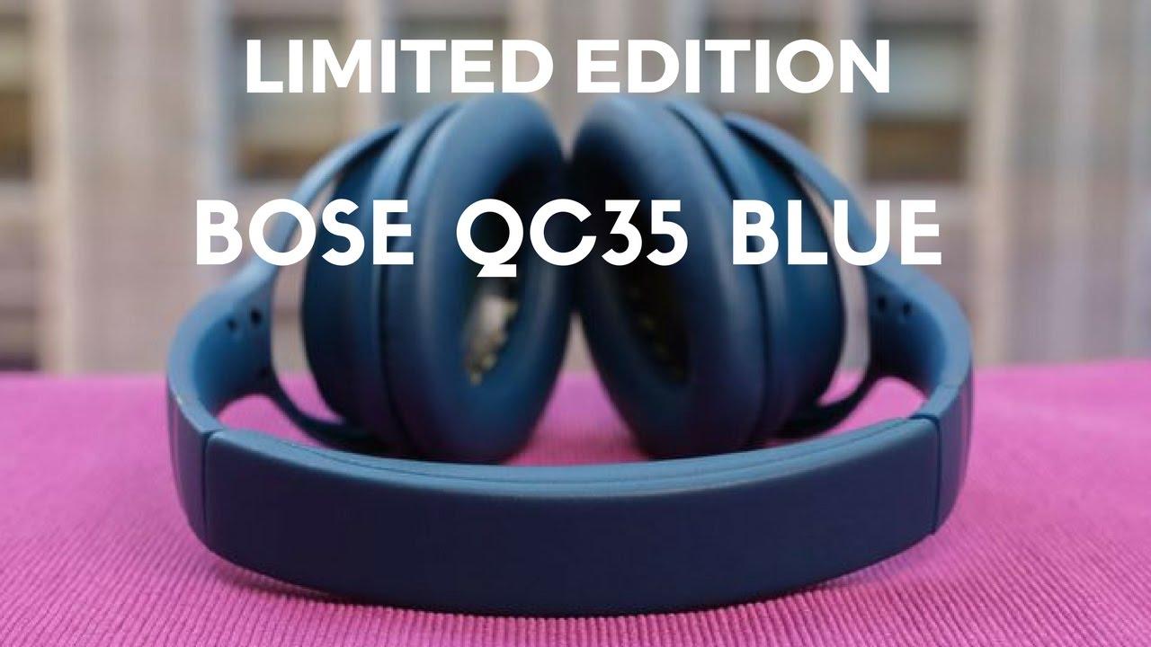 bose noise cancelling headphones blue. bose quietcomfort qc35 unboxing (limited edition blue) noise cancelling headphones blue s