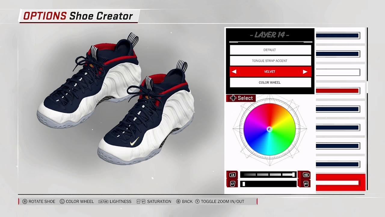 eaa7aced863 NBA 2K18 Shoe Creator - Nike Foamposite One